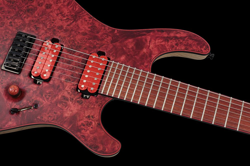 Mayones Regius 7 Chilli - Master Builder Collection 2012 - Easy access to the upper frets