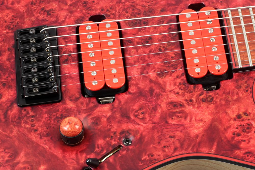 Mayones Regius 7 Chilli - Master Builder Collection 2012 - Bare Knuckle Pickups Nailbomb Set