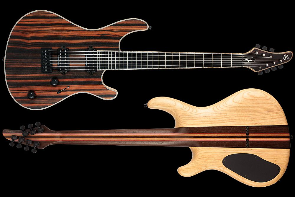 Mayones Regius 7 Exotic II Ebony Macassar - Master Builder Collection 2012 - front & back