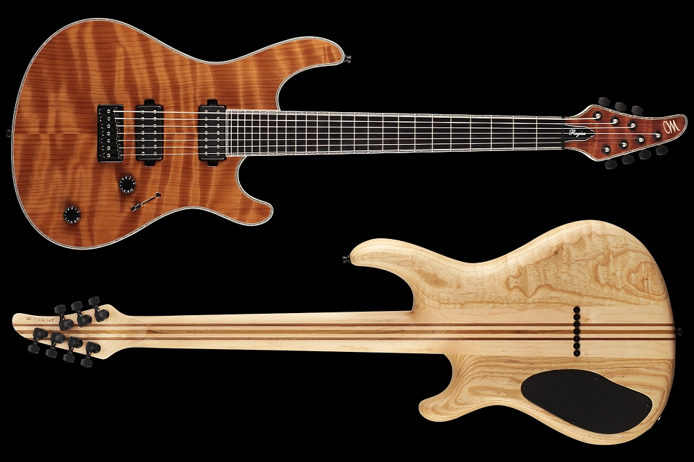 Mayones Regius 7 Redwood Curly - Master Builder Collection 2014 - front & back