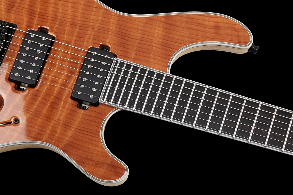 Mayones Regius 7 Redwood Curly - Master Builder Collection 2014 - Ferd Wagner 24 extra jumbo Stainless Steel frets