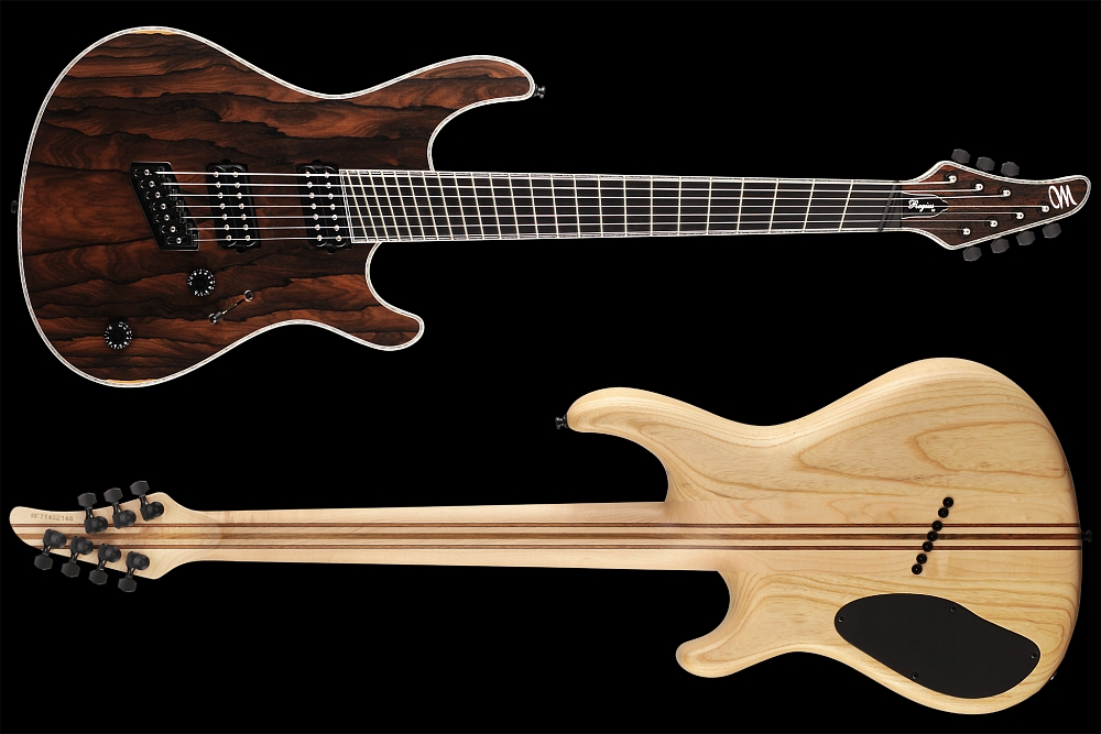 Mayones Regius 7 V•Frets Multiscale Ziricote - Master Builder Collection 2014 - front & back