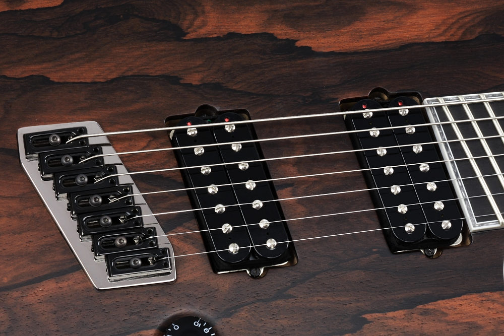 Mayones Regius 7 V•Frets Multiscale Ziricote - Master Builder Collection 2014 - Bare Knuckle Pickups Aftermath Short Leg Angled Base-Plates humbuckers