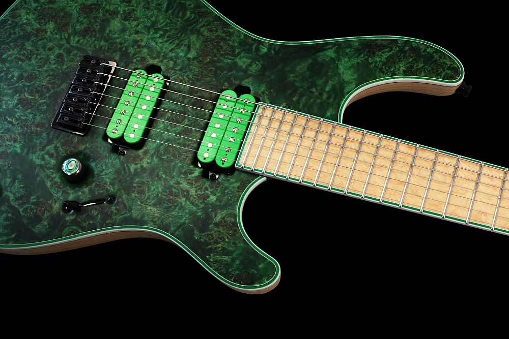 Mayones Regius 7 Wasabi - Master Builder Collection 2013 - Easy access to the upper frets