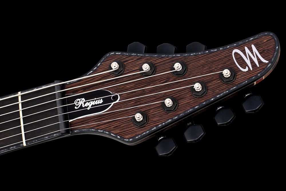 Mayones Regius 7 Wenge Custom Shop Trans Natural Matte finish Seymour Duncan SH-4/SH-2 humbuckers Schaller Hannes bridge