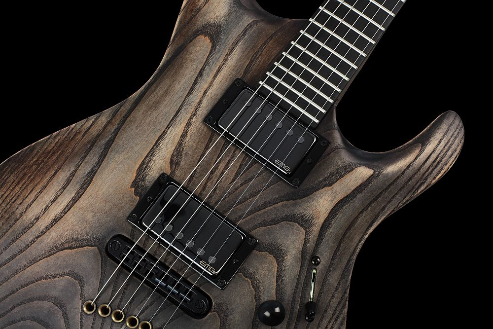 Mayones Setius 6 GTM Antique Oil - Master Builder Collection 2013 - Tune-O-Matic style strings-thru-body bridge
