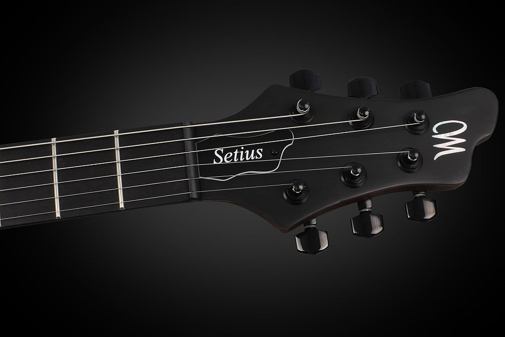 Mayones Setius 6 GTM Antique Oil - Master Builder Collection 2013 - head - Graph Tech Black Tusq nut and Schaller tuners