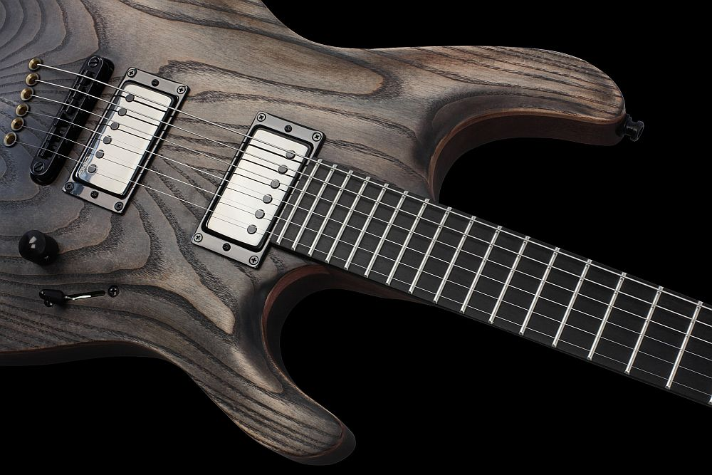 Mayones Setius 6 GTM Antique Oil - Master Builder Collection 2013 - Easy access to the upper frets