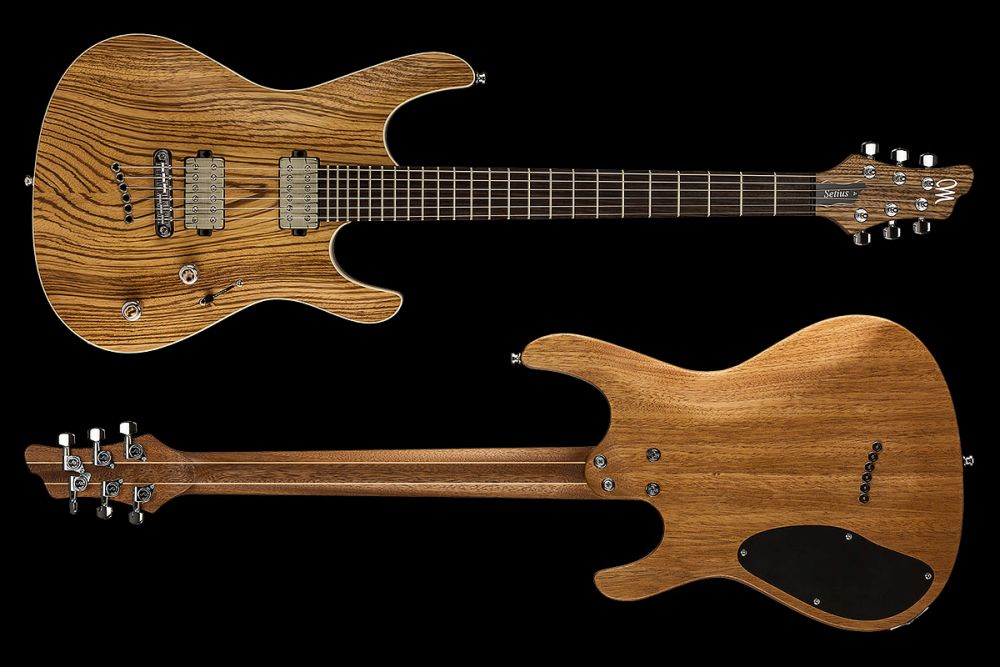 Mayones Setius 6 GTM Zebrawood - Master Builder Collection 2016 - front & back