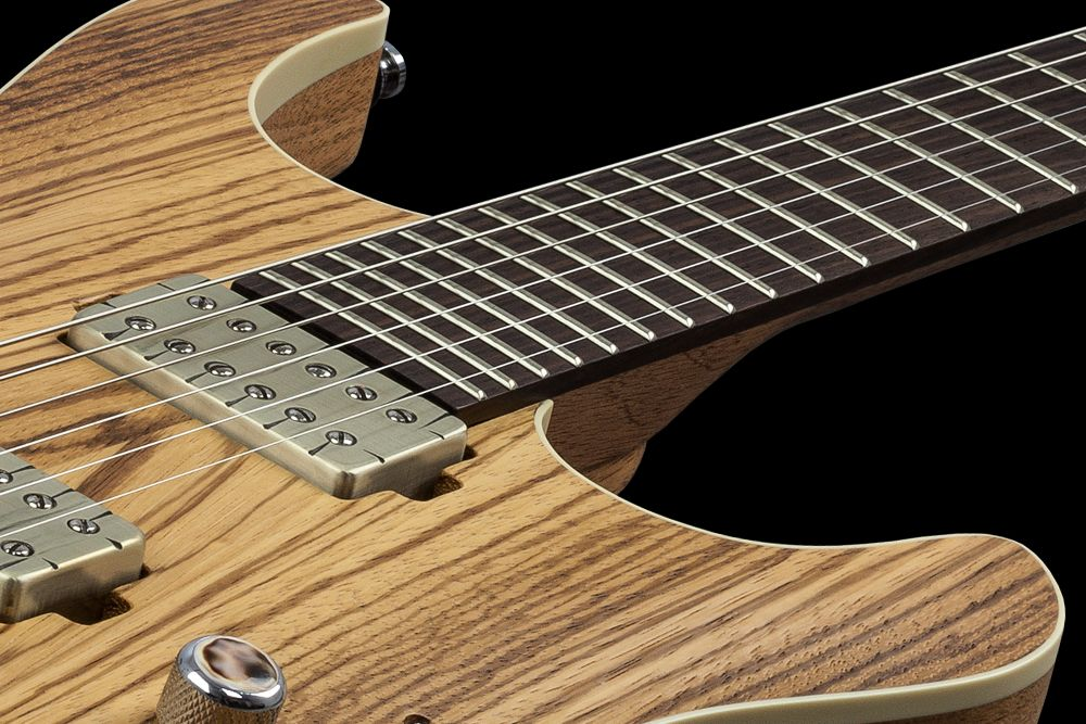 Mayones Setius 6 GTM Zebrawood - Master Builder Collection 2016 - Easy access to the upper frets