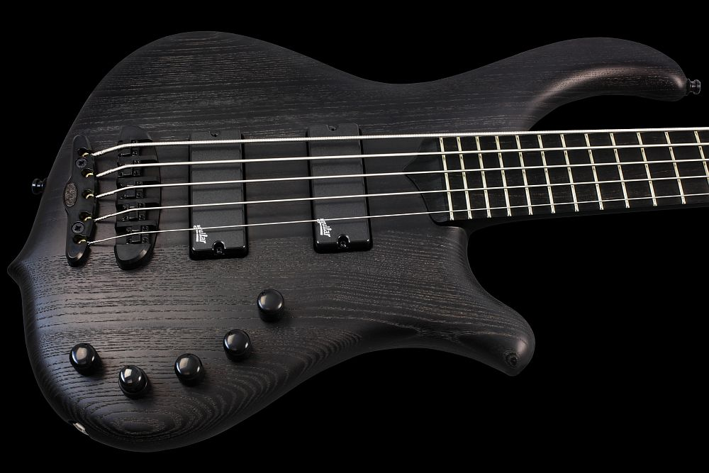 Mayones Slogan 5 Gothic- Master Builder Collection 2013 - Profiled Swamp Ash body, Ebony fretboard, 9-ply Maple/Mahogany neck-thru-body section