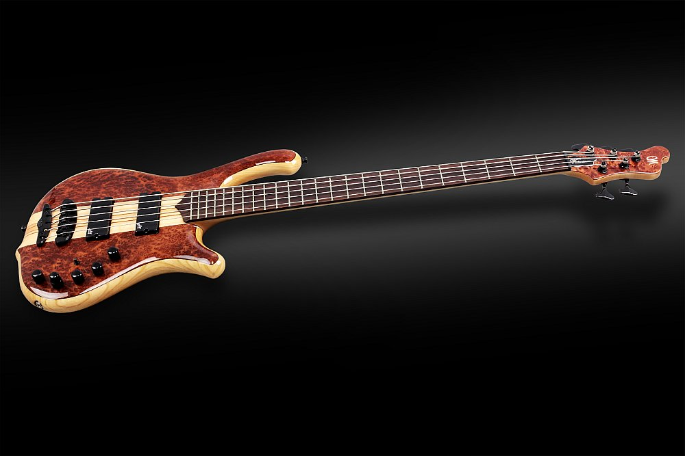 Mayones Victorious Classic 5 Figured Redwood top Trans Natural Gloss finish