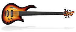 Patriot MR Fretless 5 - Tea Burst
