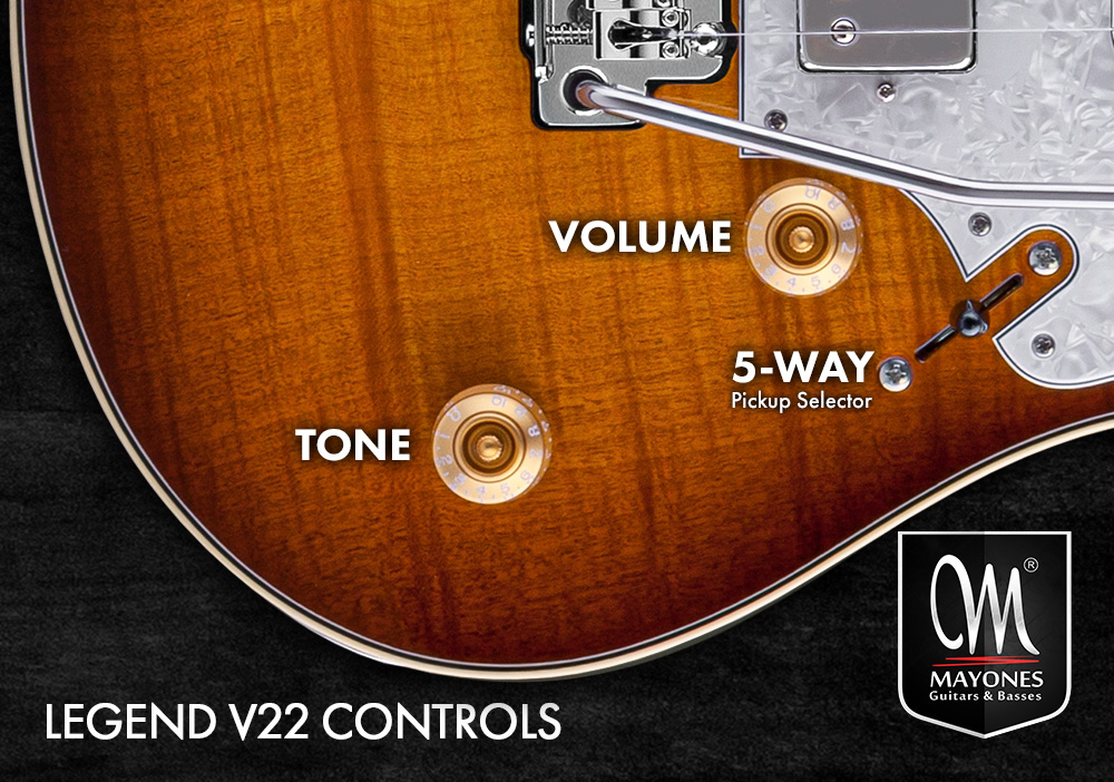 Legend V22 Guitars Control Layout