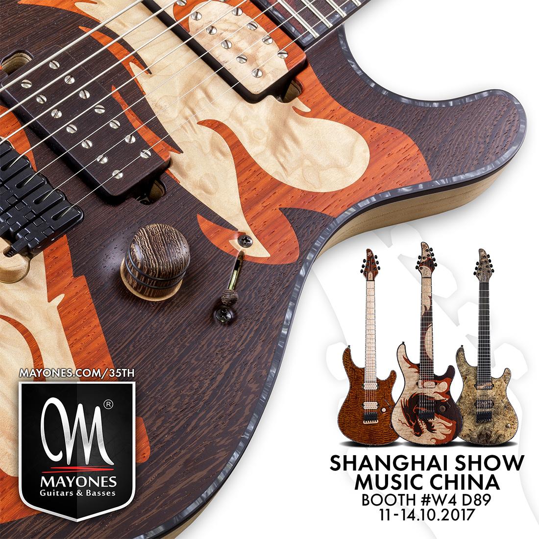 Mayones Guitars & Basses at Music China 2017