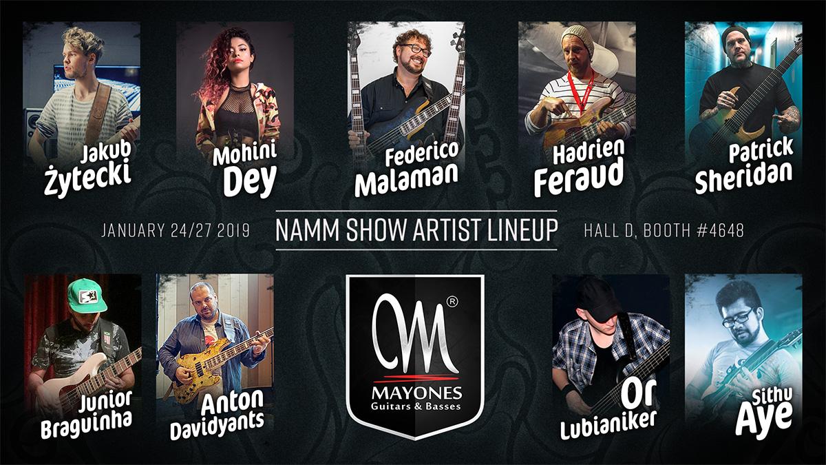 NAMM 2019 Artist Lineup