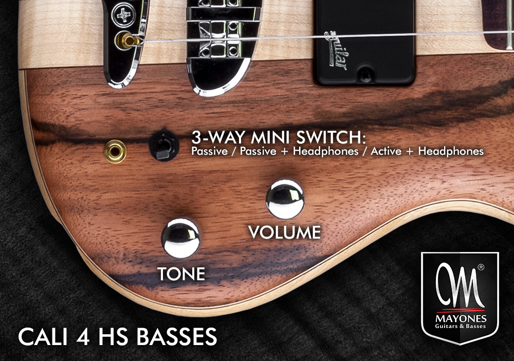 Cali 4 HS Series Basses Control Layout